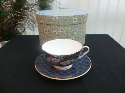 Wedgwood Tea Garden Blackberry And Apple Teacup And Saucer *Boxed*