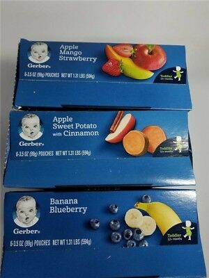 Gerber Baby Toddler Food Pouch Variety Pack 3.5 Oz 18CT