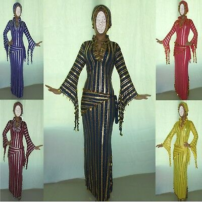 2 Scarves M62 Belly Dance Baladi Galabeya Dress Egyptian Costume Dancing Wear