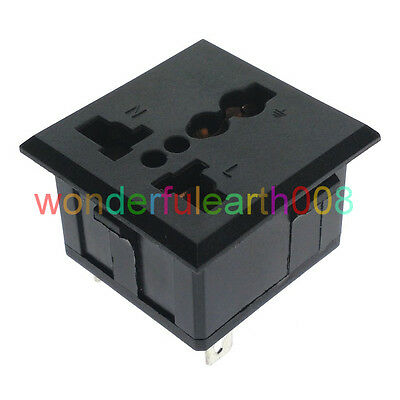 (1 PC) Universal Outlet Panel Mount Power Socket Receptacle Max AC250V 13A