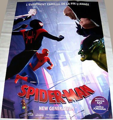 SPiDER-MAN iNTO THE SPiDER VERSE  Animation Marvel Brooklyn  LARGE French POSTER