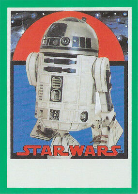 2017 Topps Star Wars Sugar Free Bubble Gum Wrapper Green R2-D2 24/40 Red Sun