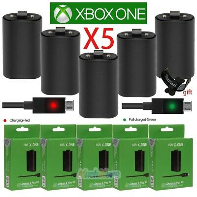 Lot5 For Xbox One Play and Charge Kit Rechargeable Battery Pack & Charging Cable