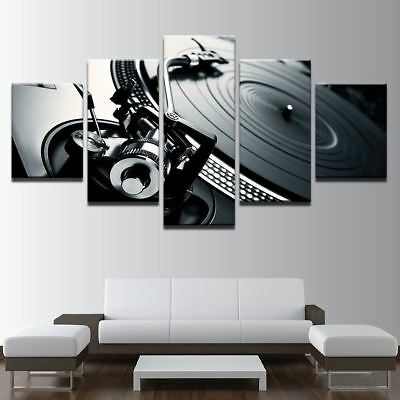DJ Turntable 5 piece canvas Wall Art Home Decor Picture Print