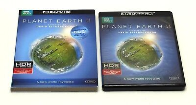 BBC Planet Earth II 4K Ultra HD Blu-ray 3 Disc Set + Slipcover VG Cond FAST SHIP