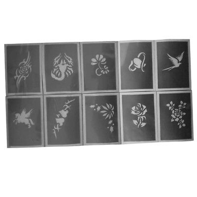 10Pack Body Face Painting Stencil Template Halloween Christmas Makeup Tattoo