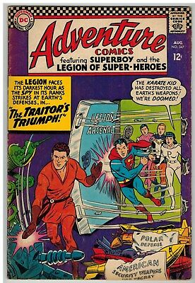 Adventure Comics #347 1966 Legion Of Super-Heroes Dc Silver Age Nice!