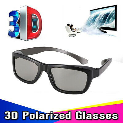 5x Passive 3D Glasses Polarized Home 3D TV Real D cinema Panasonic For LG/Sony