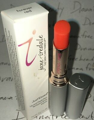 Jane Iredale Mineral JUST KISSED Lip & Cheek Stain Sheer Lipstick *FOREVER RED*