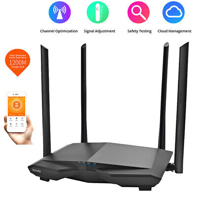 Tenda AC6 1200Mbps Wireless WiFi Router 4-Antenna Dual Band APP Remote Repeater