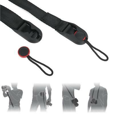 Quick Release DSLR Camera Cuff Belt +Leash Shoulder Strap Sling ABS Buckle