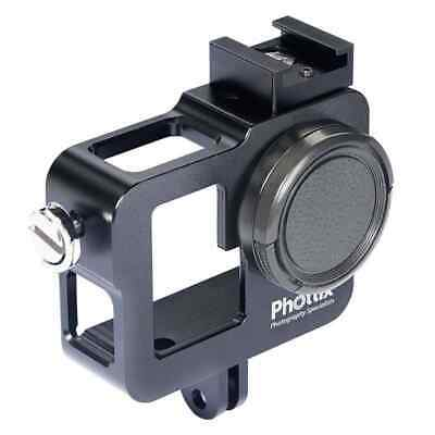 Phottix Cage for Go-Pro Hero 3 3+ and 4, Black Anodized Aluminium w. Cold Sho...