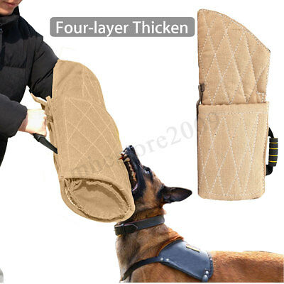 Four Layer Sticken Police Dog Training Bite Sleeve Arm Protection Biting Obedien