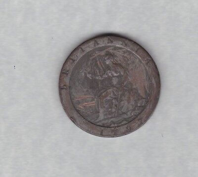 1797 George Iii Cartwheel Penny In Fine Or Better Condition