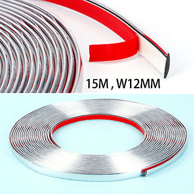 15M Bande Moulage adhesif flexible Coleur chrome argente protection voiture