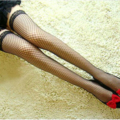 Women's Fishnet Lace Top Mesh High Thigh Stockings Tights Pantyhose Socks Hot