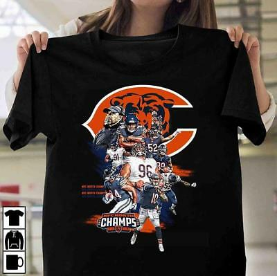 Chicago Bears NFC North Champion Division 2018 Football Shirts Men Women M-3XL