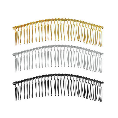 6Pcs Blank Metal Hair Comb with 20 Teeth DIY Wedding Bridal Hair Accessories