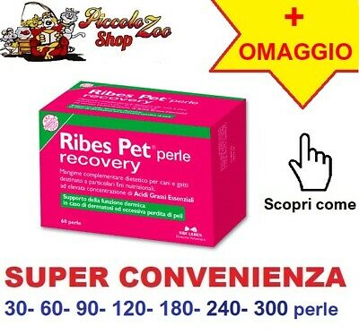 Ribes Pet Recovery cane/ gatto 30-60-90-120-180-240-300 perle dermatite allergia