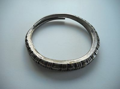 Old Coin Silver Coiled Hilltribe / Tribal Bracelet Laos SE Asia