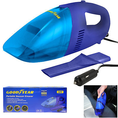 Goodyear 12V DC Car/Van Cigarette Lighter Corded Vacuum Cleaner Powerful Suction