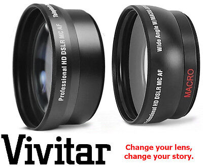 2-PC LENS KIT HD WIDE ANGLE & TELEPHOTO LENS FOR CANON 18-55mm LENS