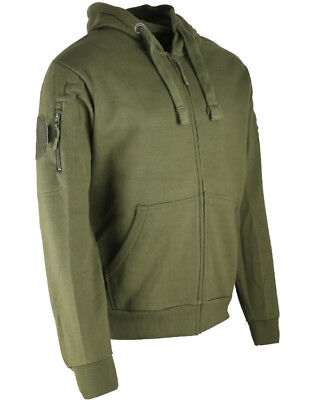 Kombat Green Spec-Ops Hoodie Deluxe Zipped Warm Jumper Outdoors Camping Military