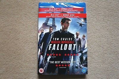 Blu Ray Mission Impossible Fallout ( 2 Disc )  Brand New Sealed Genuine Uk Stock