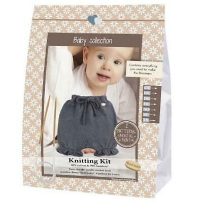 Go Handmade Knitting Crochet Kit Baby Bloomers - Dark Grey