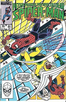 Peter Parker: The Spectacular Spider-man #86 Jan. 1984 Fred Hembeck Art & Cover!