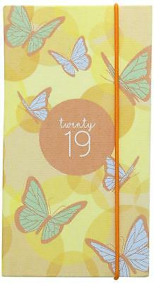 Collins 2019 Slim Diary Week To View Butterfly Calendar Full Year Papillon FF73