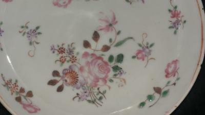 Pretty Chinese 18th C  Famille Rose  Porcelain Saucer Dish C 1760+