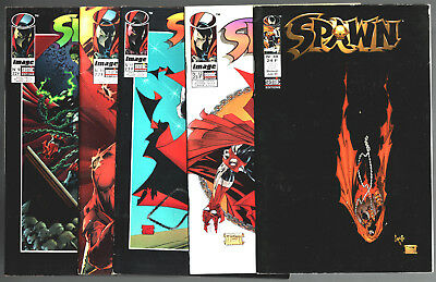 LOT 5 BD SPAWN n°9-10-11-12-38 ¤ 1996/1999 SEMIC IMAGE COMICS