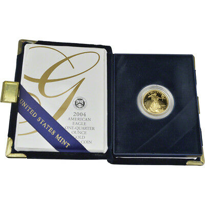 2004-W American Gold Eagle Proof 1/4 oz $10 in OGP