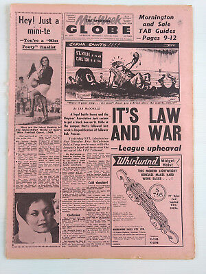 1968 06 26 'it's Law And War - Leaugue Upheaval' The Sporting Globe Newspaper