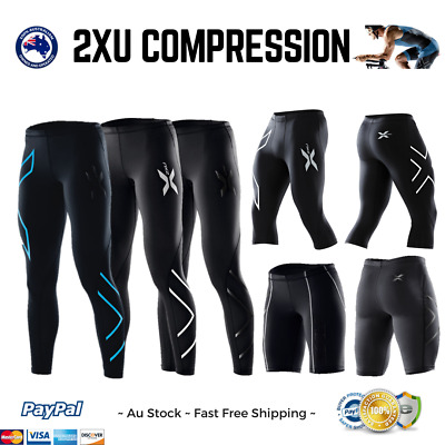 2XU Men Compression Tights Pant Fitness Running Cycling Gym SKINS S-XL EXPRESS