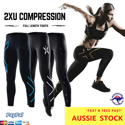 2XU Womens Compression Tights Skins Cycling Sportswear Full Length Long EXPRESS