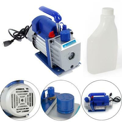 3CFM 1/4 hp Rotary Vane Deep Vacuum Pump for HVAC AC Refrigerant Charge
