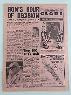 1968 07 31 'ron's Hour Of Decision' The Sporting Globe Newspaper