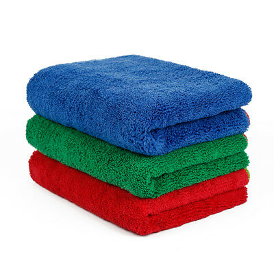 "3 Pcs Microfiber Towel Soft Car Wash Polish Drying Cleaning Cloth 16"" x 24"""