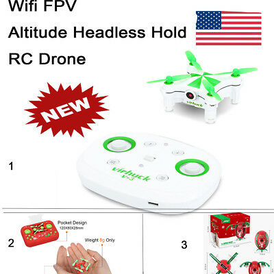 Mini RC Drone Wifi FPV Camera 6 Axis Video Altitude Hold Beginners Quadcopter