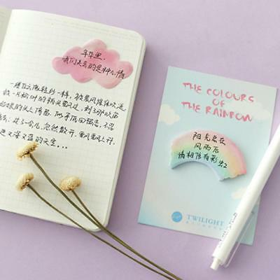 Sticky Notes Memo Notebook Diary Stationery Rainbow Pads School Office Supplies