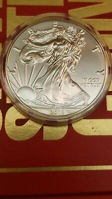 2018 1 oz Silver American Eagle Coin BU Out of Mint Direct Tube Into Capsules