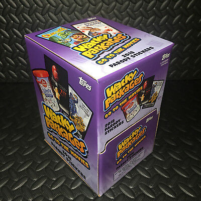 Wacky Packages Go To The Movies 2018 Brand New Gravity Feed Box 60 Packs! L@@k!