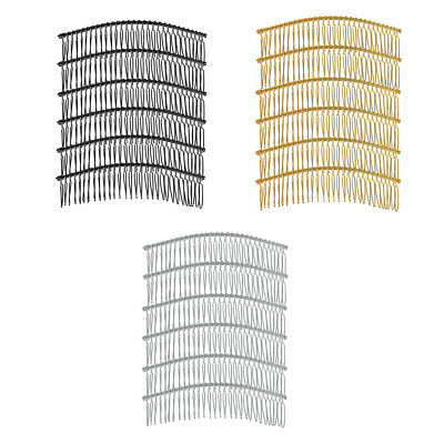 6packs DIY Blank Metal Hair Clips Side Hair Comb 30 Teeth Bridal Accessories