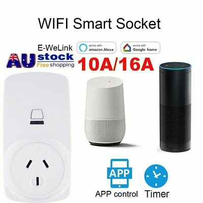 10A/16A Wireless Wifi Smart Power AU Plug Socket Switch for ECHO ALEXA GOOGLE SA
