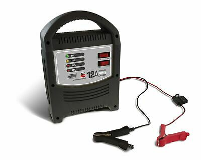 Maypole MP7112 12A 24V Automatic LED Battery Charger Car Vehicle Up To 1.8L