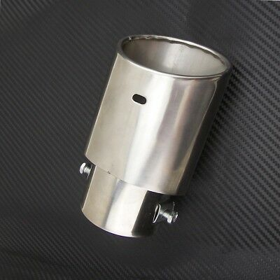 Auto Car Exhaust Tail Throat Tip Pipe Trim Muffler Pipe Stainless Steel 145mm