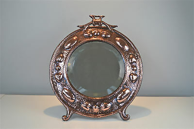 Beautiful Arts and Crafts beaten copper ladies dressing table mirror circa.1910