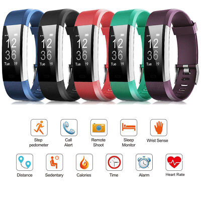 ID115 Plus HR Bluetooth Smart Watch Fitness Tracker Pedometer for Andriod iOS